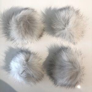 4 Rabbit Pom Poms